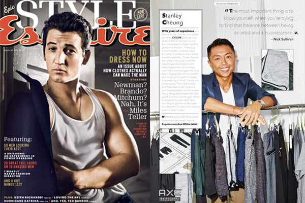 Esquire Magazine Featuring EYSOM and Stan Cheung