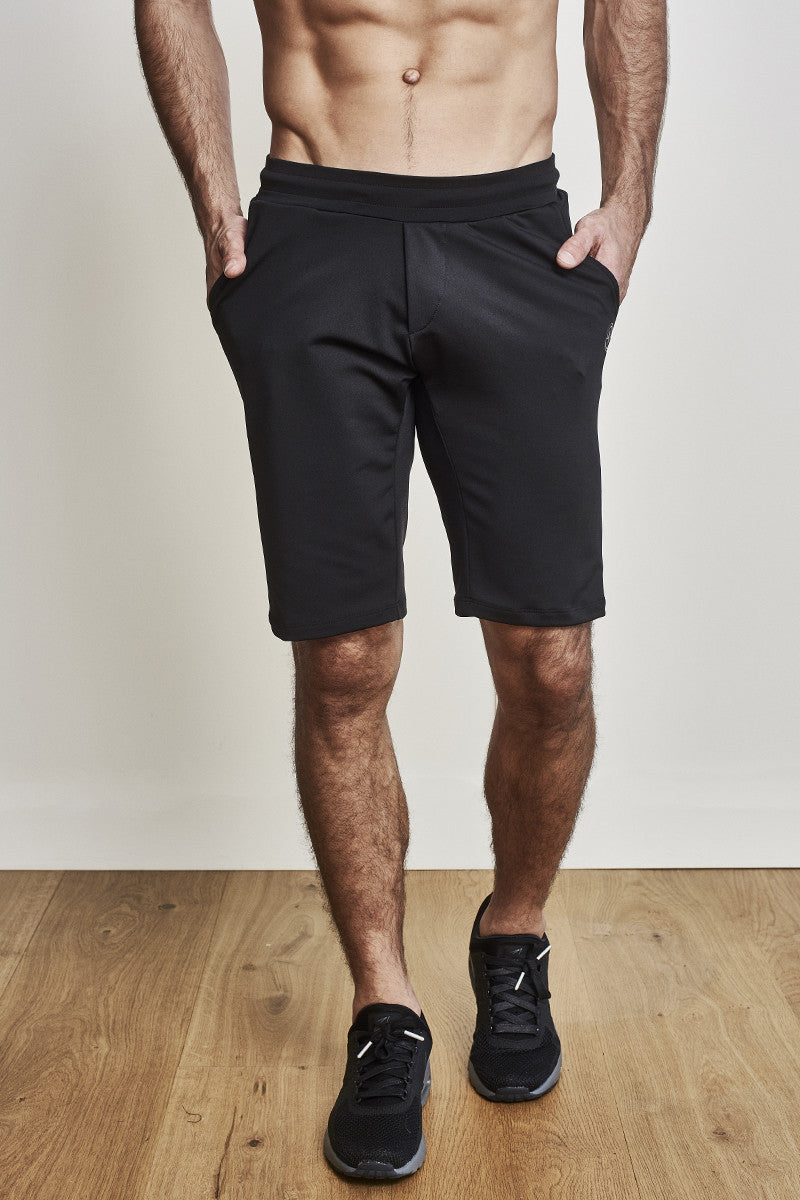 acf5fc66 Mens 11-Inch Shorts in Black with Black Waistband by EYSOM ...