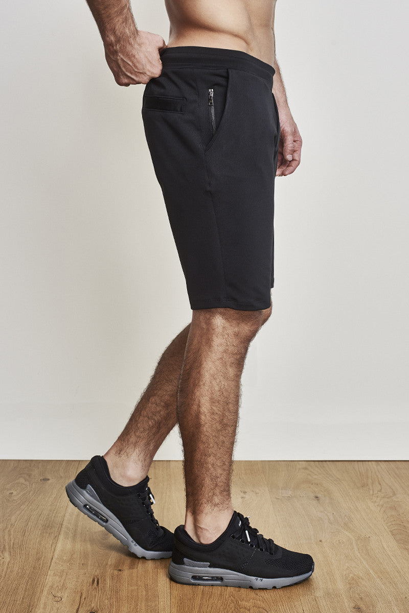 adc96ee1 ... Mens 11-Inch Shorts in Black with Black Waistband by EYSOM ...