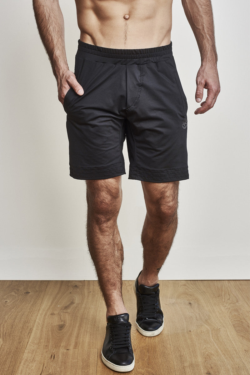 EYSOM Men's Black 8-Inch Training Shorts