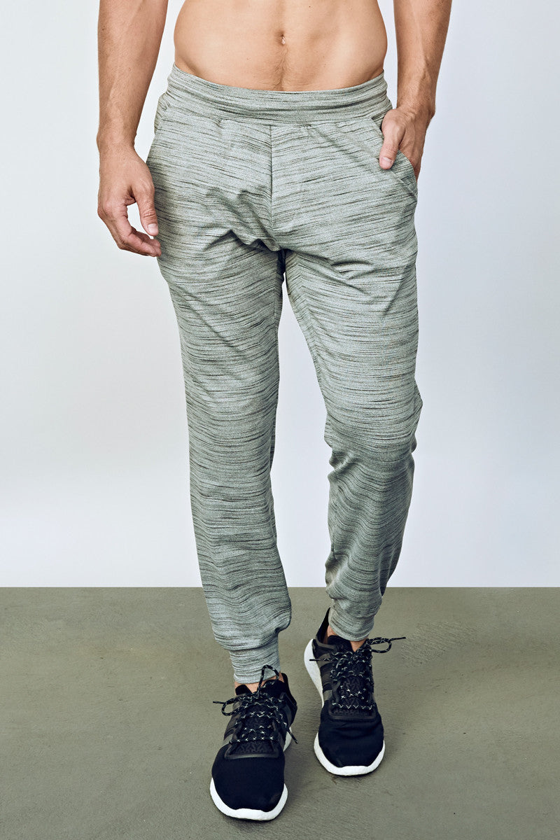 EYSOM Men's Heather Grey Refined Jogger Pant
