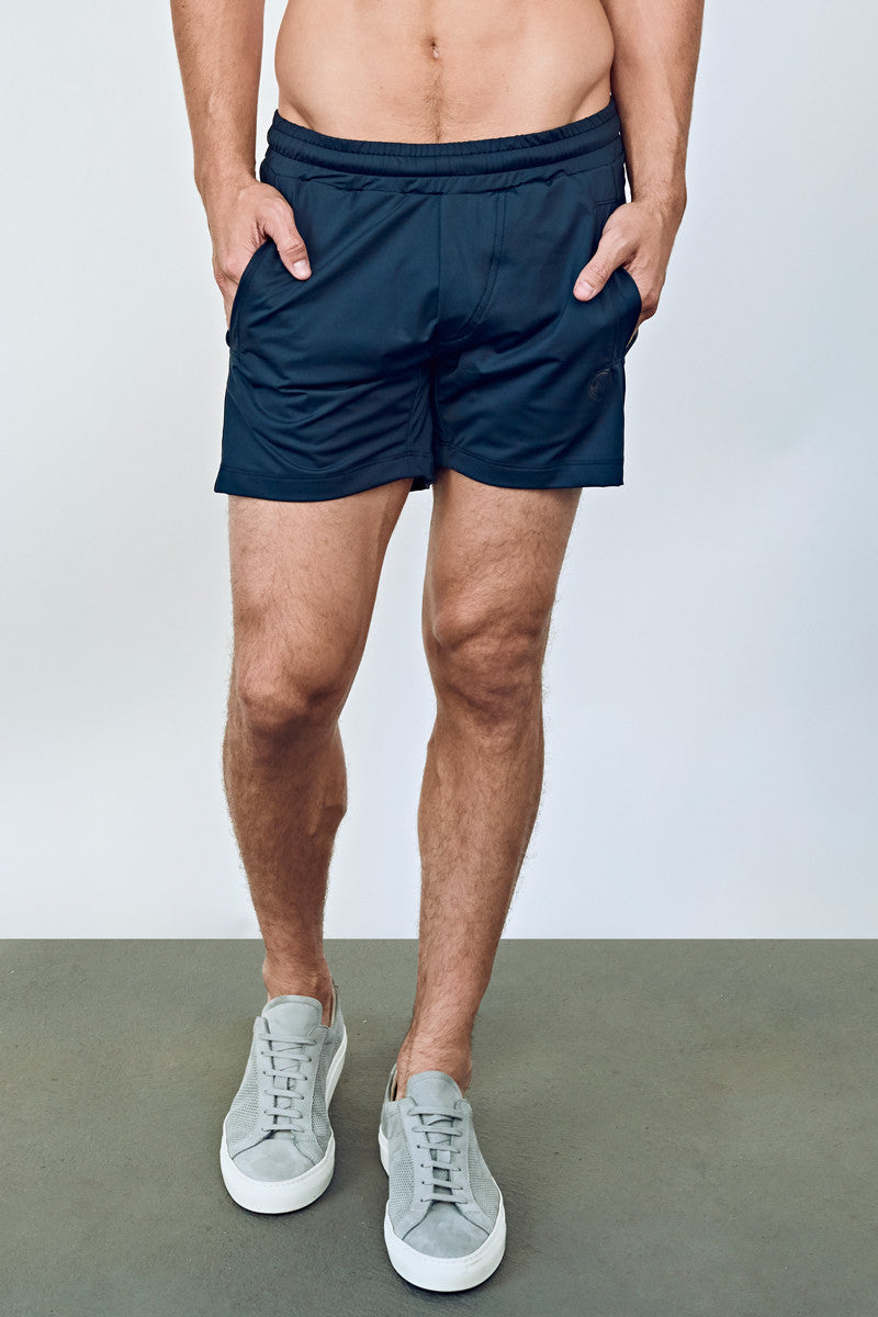 EYSOM Men's Navy Blue 5-Inch Training Shorts