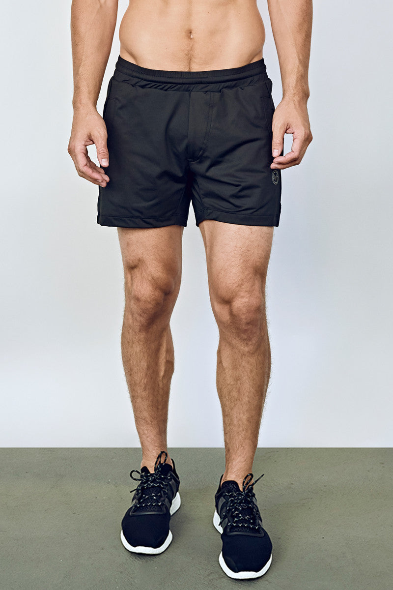 EYSOM Men's Black 5-Inch Training Shorts