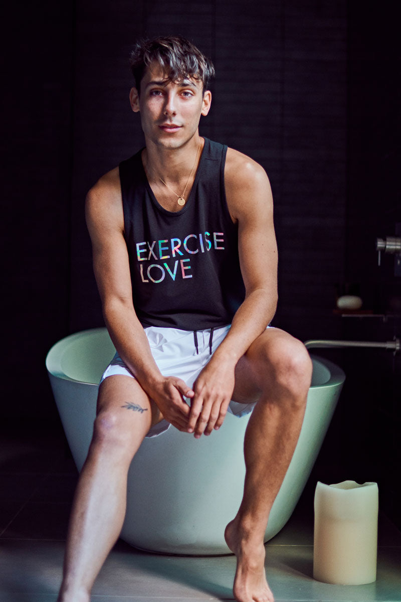Men's Performance Tank | Fundamental Tank 'Love' (Black/Halogram)