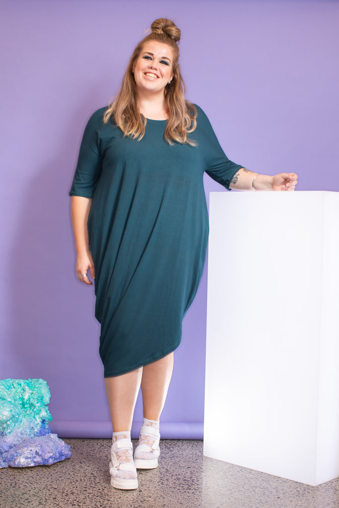 Jasmine Dress - Moody Green