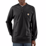 Long Sleeve Workwear Pocket Henley-K128