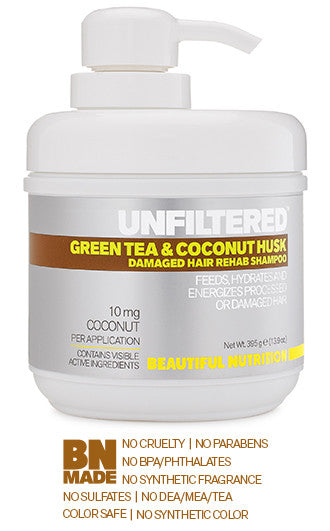 Green Tea & Coconut Husk Damaged Hair Rehab Shampoo