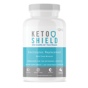 Keto Shield (200 count) - Magnesium, Potassium, Sodium, Calcium and Trace Minerals in ONE Capsule