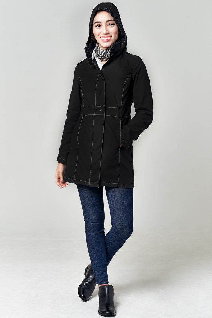 HOWE FITTED COAT | Black