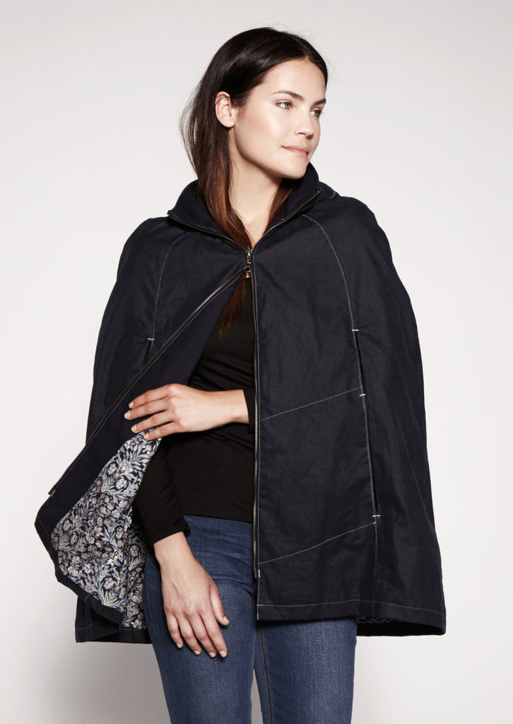 Garfield Cape - Dark Navy