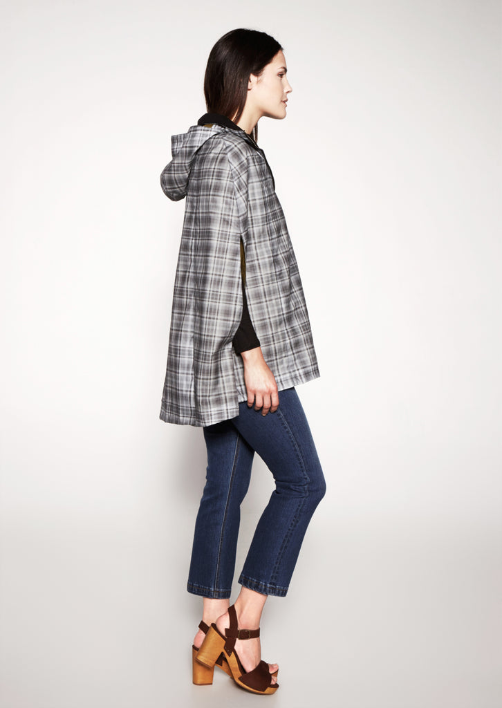 Garfield Cape - Vintage Grey Plaid