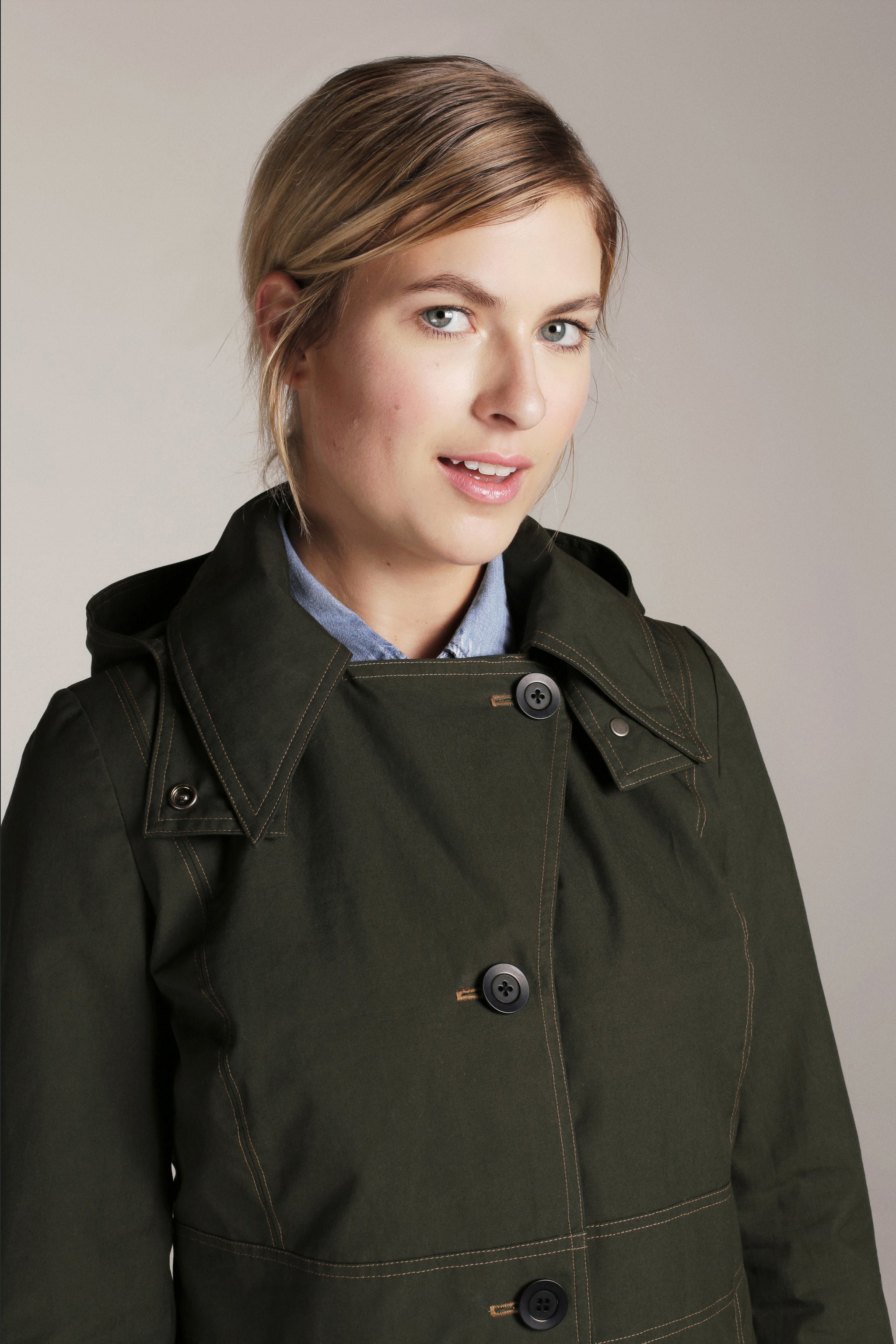 WOMEN'S MIDI URBAN TRENCH | Dark Olive Green - FELLER