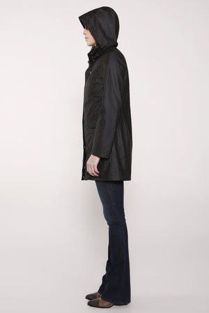 WOMEN'S SEATTLE PARKA | Grey Crosshatch Print - FELLER