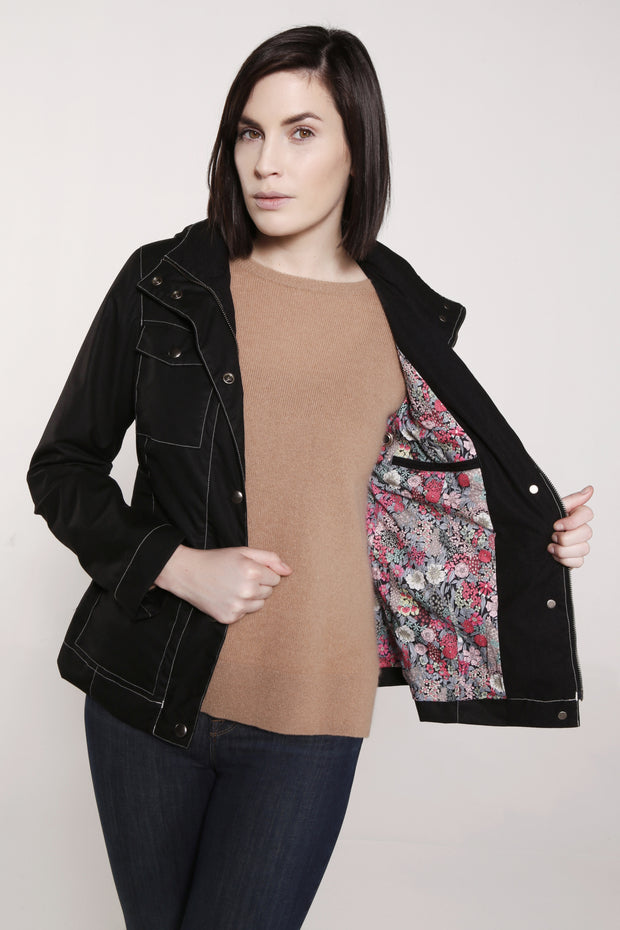 WOMEN'S CITY POCKET JACKET | Black - FELLER