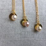 Initial and Pearl Bridal Necklaces