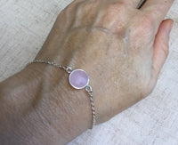 rose quartz bracelet, pink gemstone, rose quartz Bracelet, stone Jewelry,
