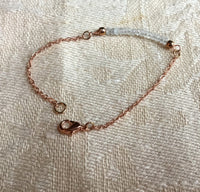 Moonstone hand wrapped pendant  and Rose Gold Braceletelet,