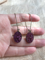 Dangly large Druzy earrings