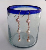 Rose Gold Pearl Earrings, pearl earrings, bridal jewelry, bridesmaid gift