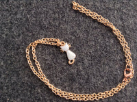 Rose Gold Kitty Cat Enamel Charm choker Necklace, cat necklace