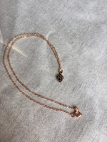 Rose Gold Necklace with Pinecone charm, Pinecone Charm Necklace