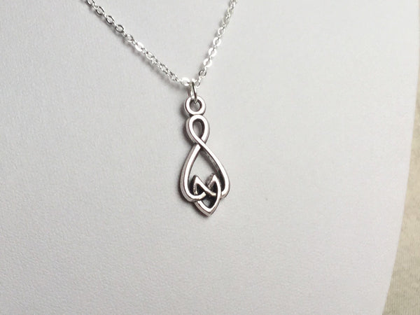 Infinite Love Necklace Polyamory Jewelry, infinite love jewelry, heart knot infinity symbol
