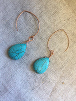 Turquoise earrings,