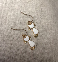 Rose Gold Kitty Cat Charm earrings