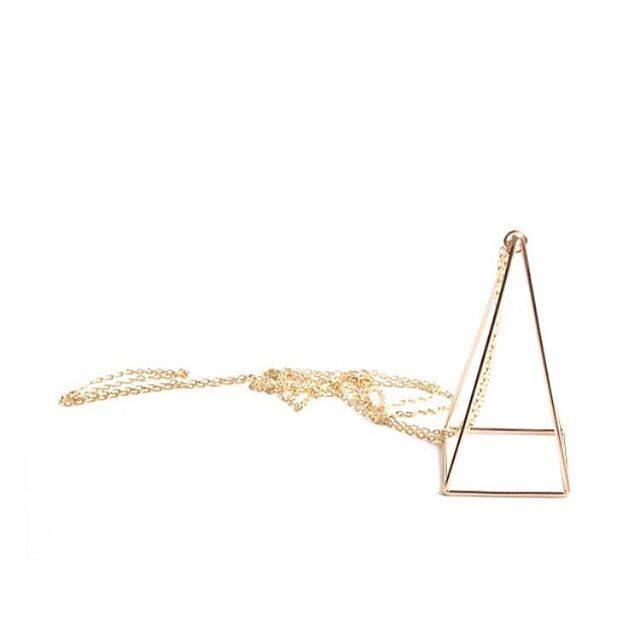Pyramid Necklace in Sterling Silver