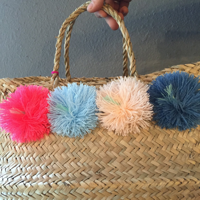 Pom Pom Medium Venice Basket by Eliza Gran