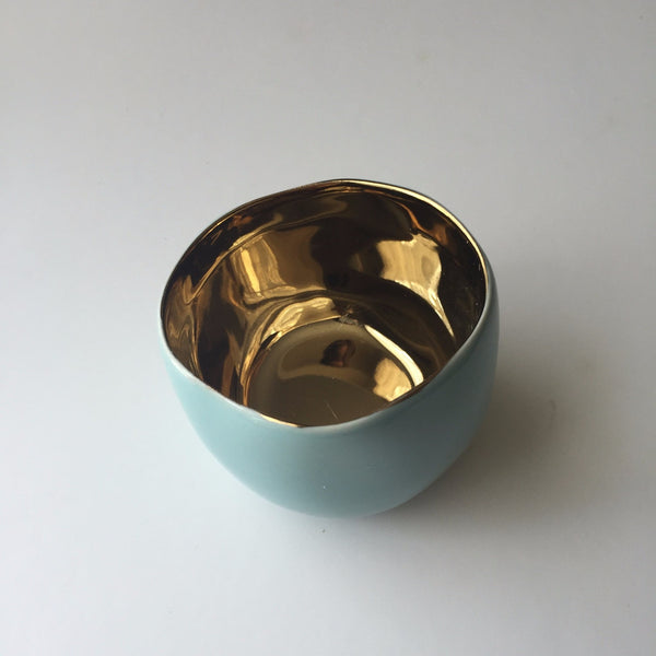 Gold + Robin's Egg Bowl