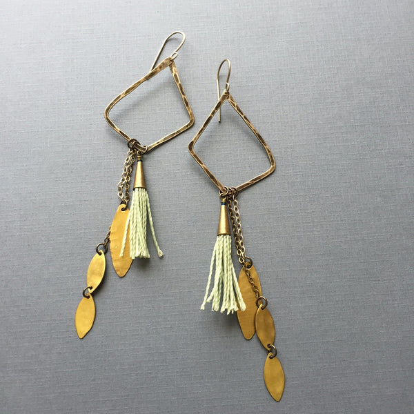 Charm and Tassel Earrings