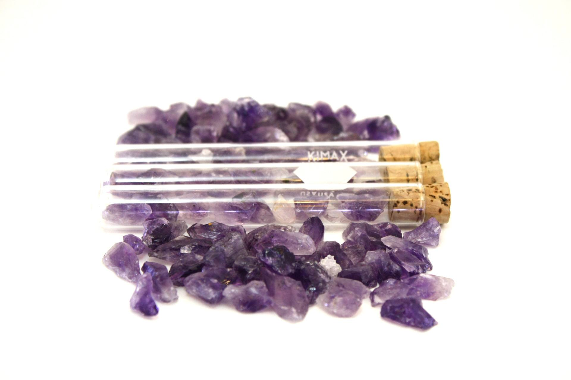 Test Tube with Mini Amethysts