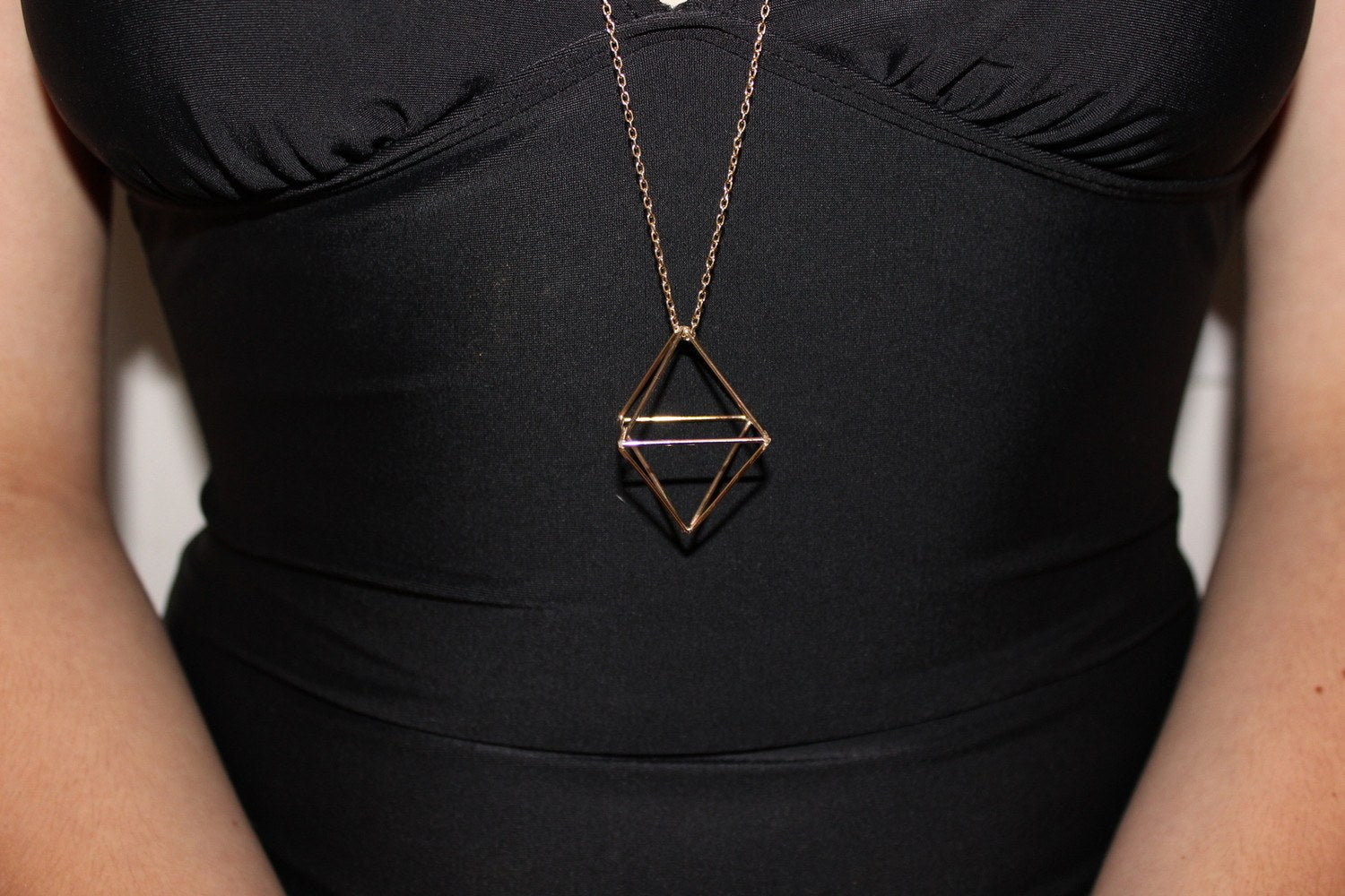Octahedron Necklace by Polaris Jewelry