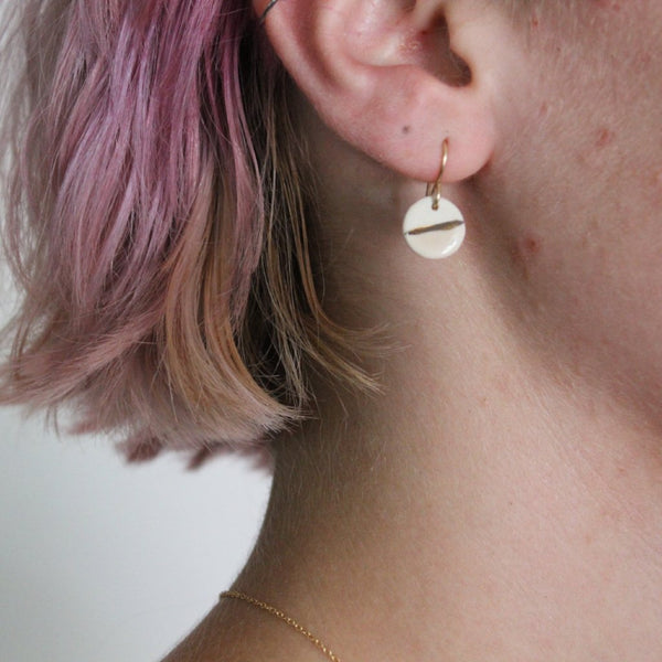 Zoe Comings Pink & Gold Earrings