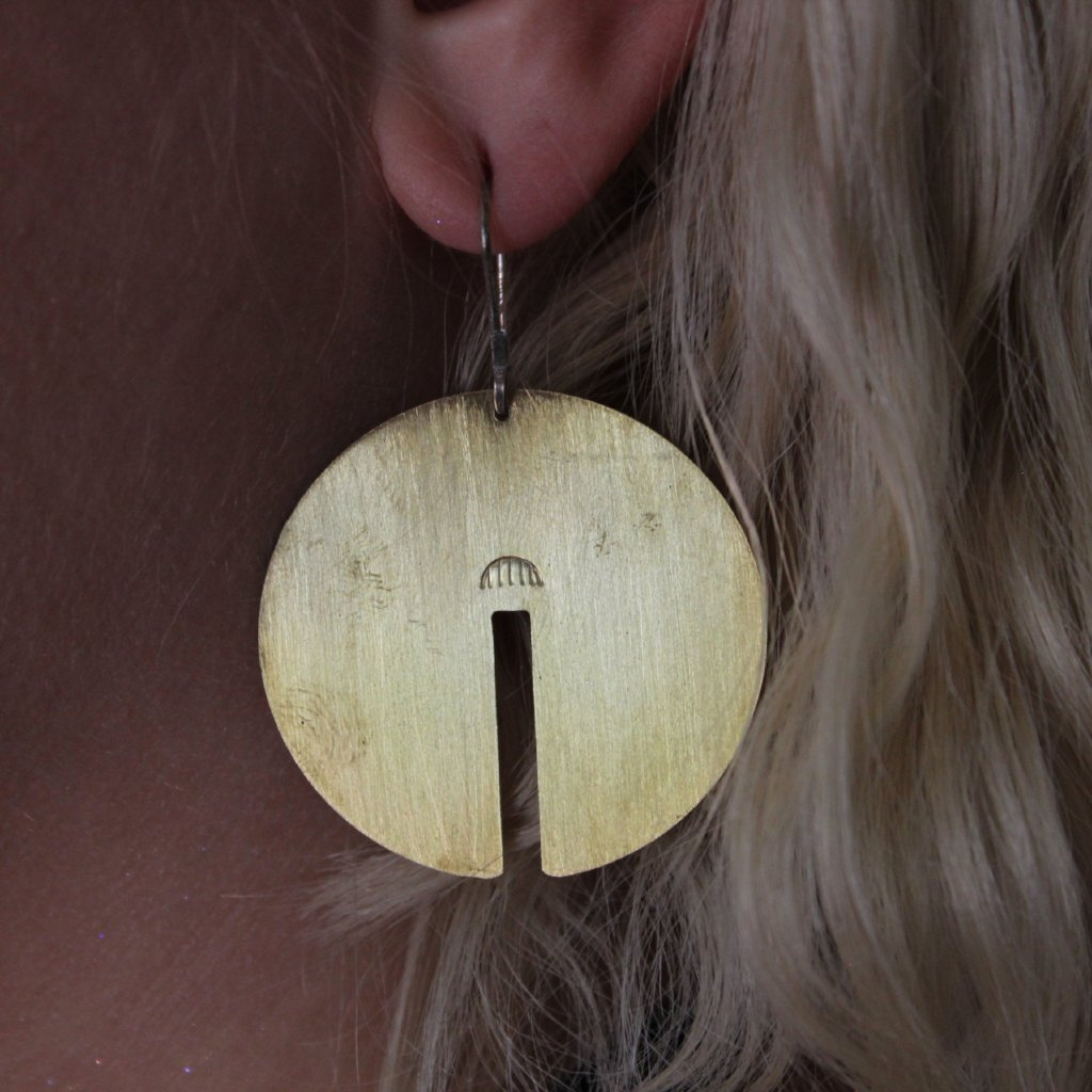 Lumafina Brass Arc Earrings