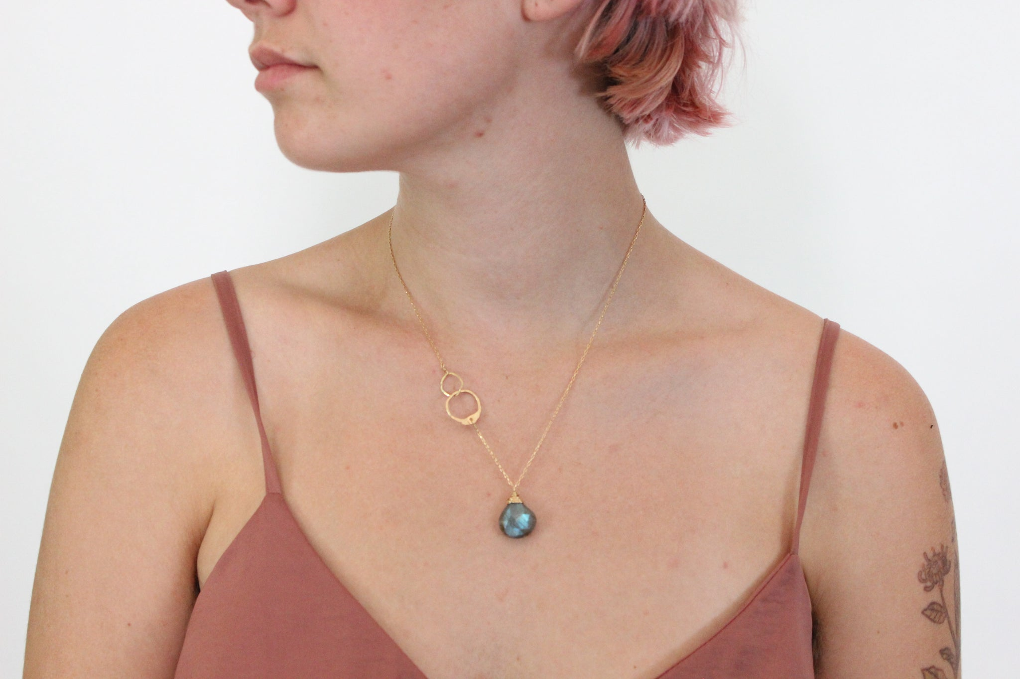 Labrodorite Drop Necklace