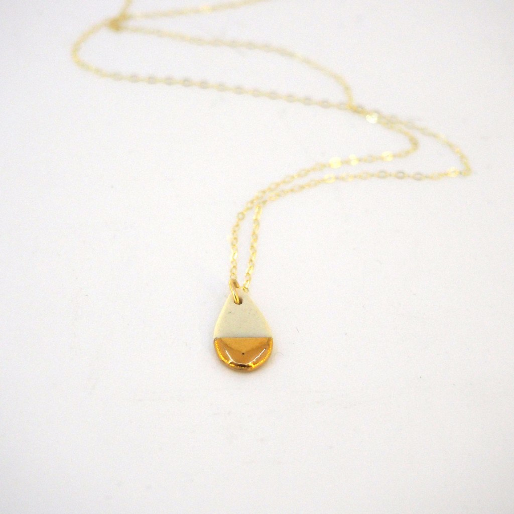 Tiny Teardrop Necklace