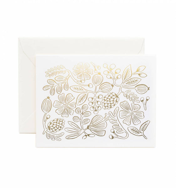 Gold Botanical Greeting Card Set