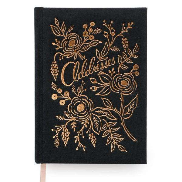 Black & Gold Address Book by Rifle Paper Co