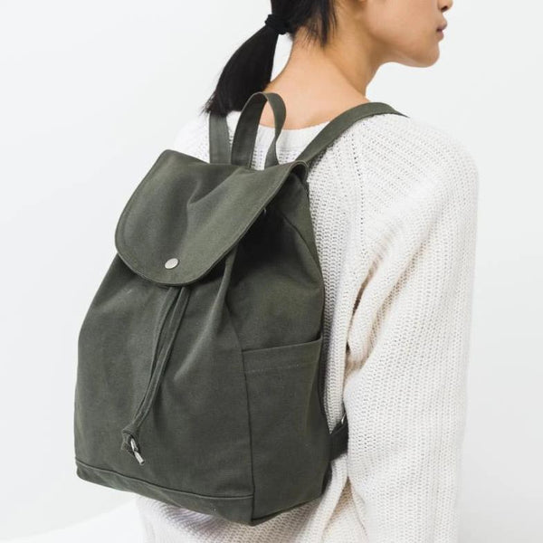 Baggu Canvas Mini Backpack in Forest Green