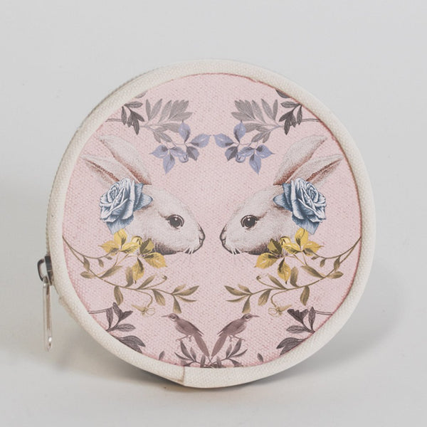 Rabbit & Roses Coin Purse