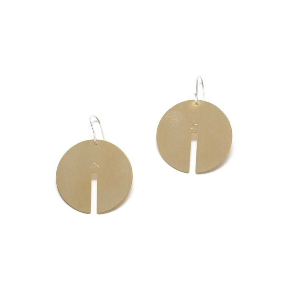 Brass Arc Earrings