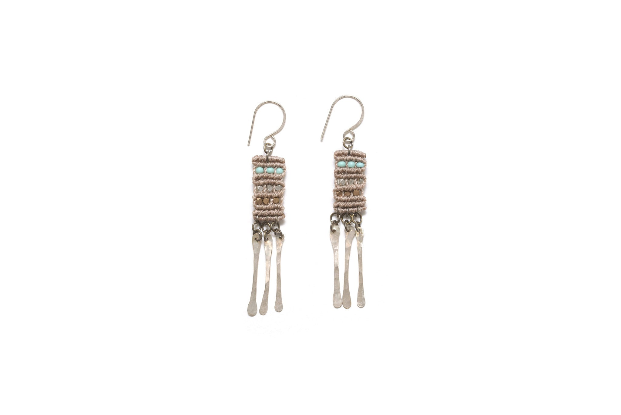 Dusky Lavender Woven Earrings