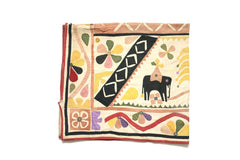 Indian Elephants Applique Wall Hanging