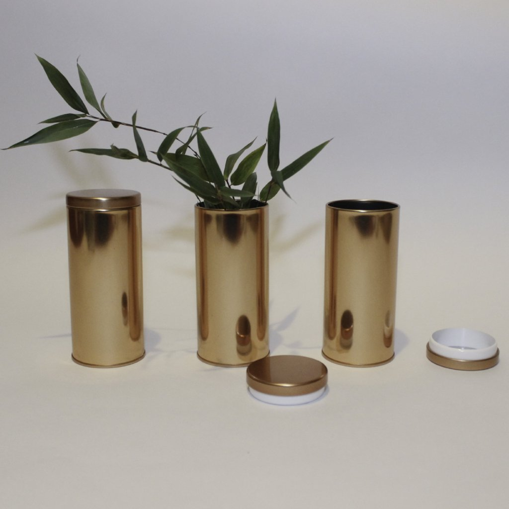Gold Tea Tins - Set of 3