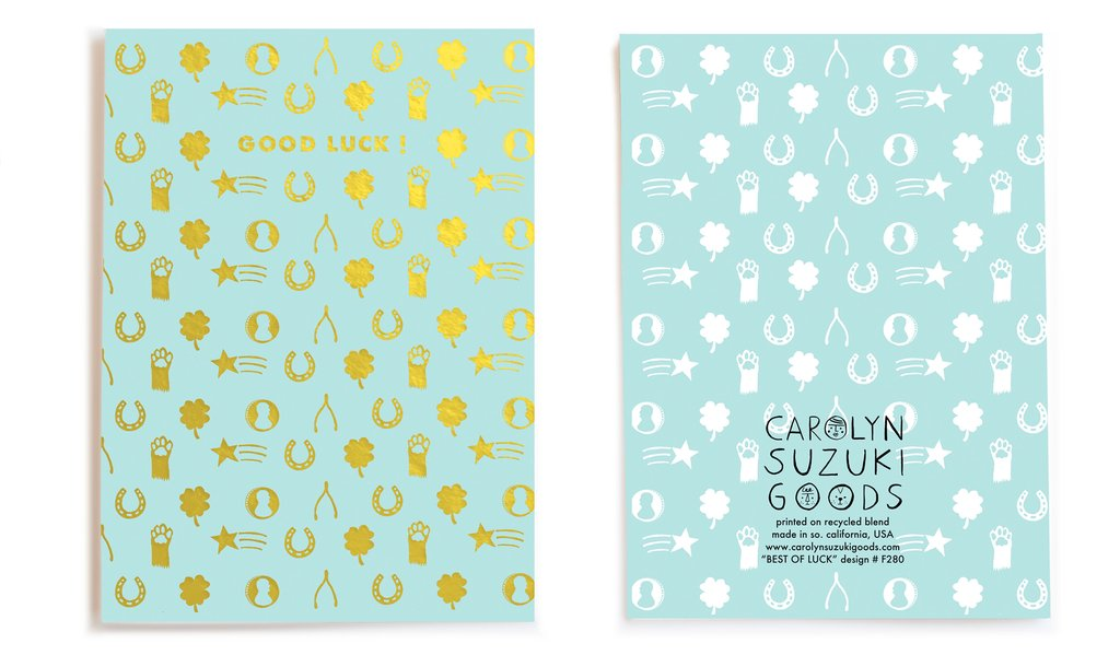 Best of Luck Card by Carolyn Suzuki