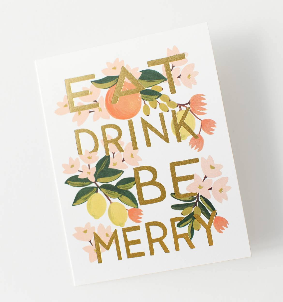 Eat Drink & Be Merry Greeting Card