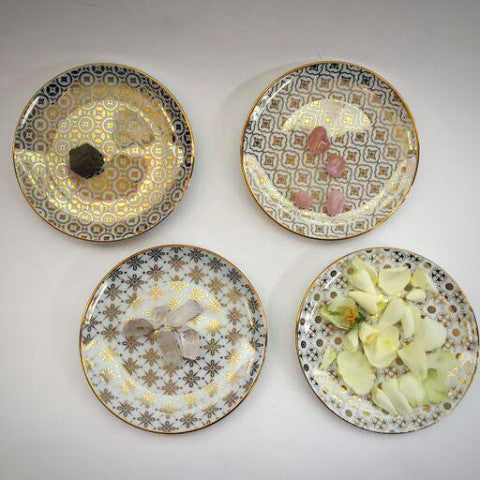 Kashmir Gold Trinket Dish Set