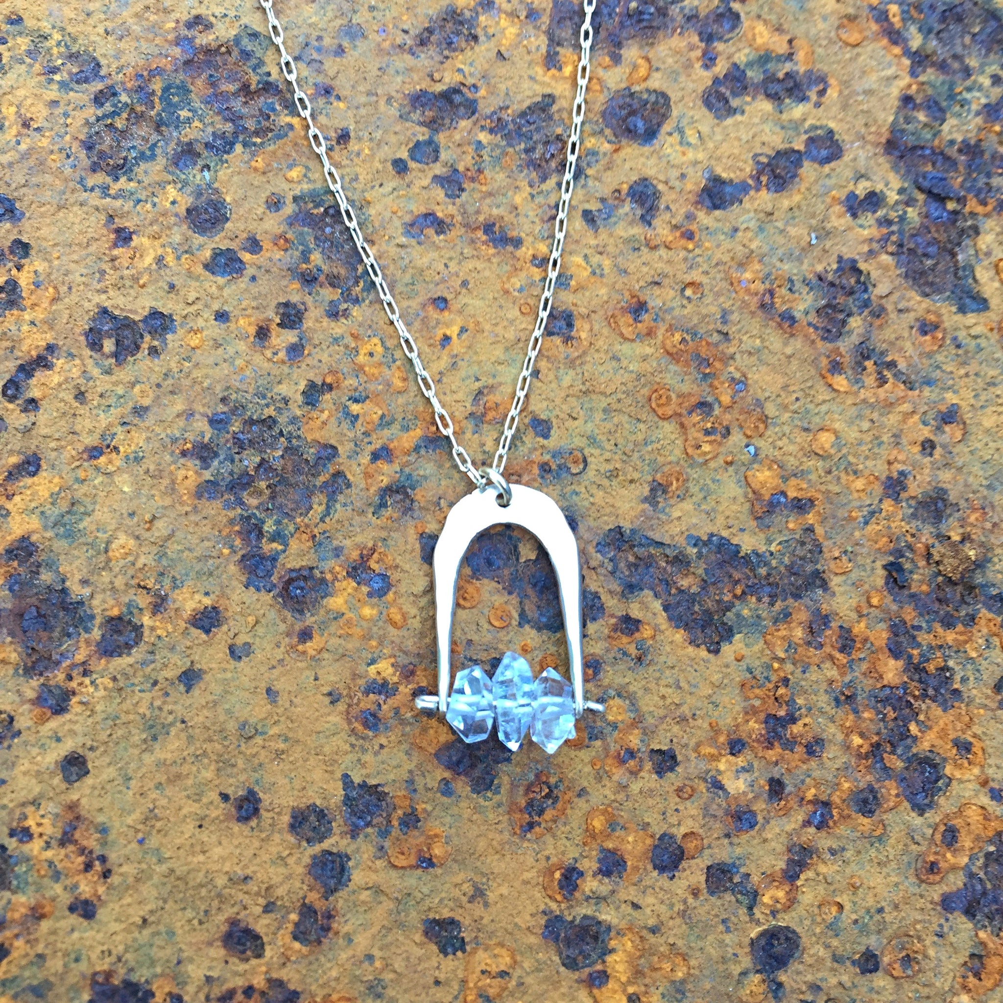 Herkimer Horseshoe Necklace